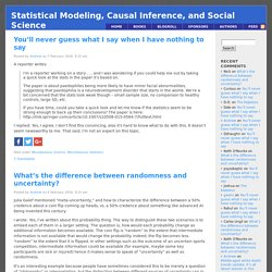 Statistical modeling, causal inference, and social science: Blog of Andrew Gelman's research group, featuring Bayesian statistics, multilevel modeling, causal inference, political science, decision theory, public health, sociology, economics, and literatu