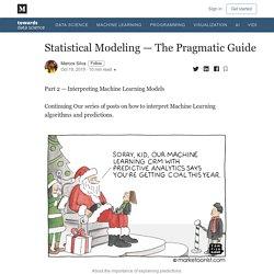 Statistical Modeling — The Pragmatic Guide