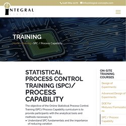 Online Statistical Process Control (SPC) Training - 3 Days