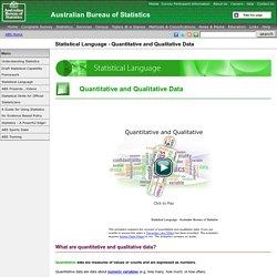 Statistical Language - Quantitative and Qualitative Data
