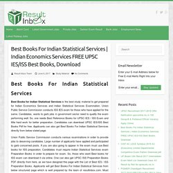 Best Books For Indian Statistical Services