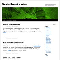 Statistical Computing Matters | Suggestions and comments about obscure and useful software.