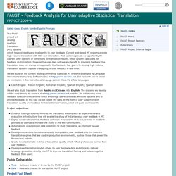 FAUST - Feedback Analysis for User adaptive Statistical Translation