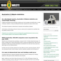 Australia's E-Waste statistics