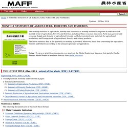 MAFF_GO_JP - AVRIL 2012 - MONTHLY STATISTICS OF AGRICULTURE, FORESTRY AND FISHERIES