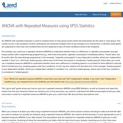 One-way ANOVA with repeated measures in SPSS Statistics - Step-by-step procedure including assumptions.