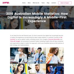 2016 Mobile Statistics in Australia: 8 Mobile Marketing Insights