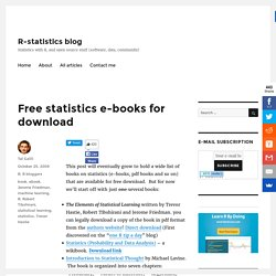 Statistics books for (free) download