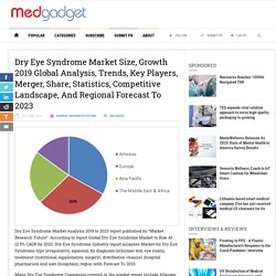 Dry Eye Syndrome Market Size, Growth 2019 Global Analysis, Trends, Key Players, Merger, Share, Statistics, Competitive Landscape, And Regional Forecast To 2023