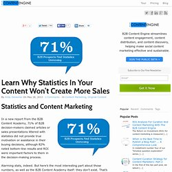Learn Why Statistics In Your Content Won't Create More Sales -