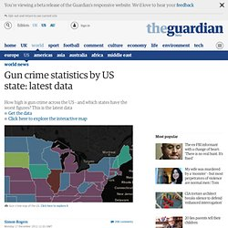 Gun crime statistics by US state: download the data. Visualised