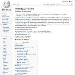 Sampling (statistics)