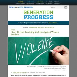 Study Reveals Troubling Violence Against Women Statistics