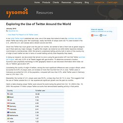 Twitter Usage Statistics by Geography, Countries, Cities, Around the World
