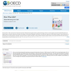 Statistics:- How Was Life? - Global Well-being since 1820 - en