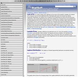 Statistics Glossary: L