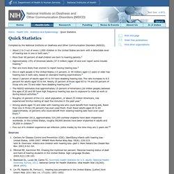 Quick Statistics [NIDCD Health Information]