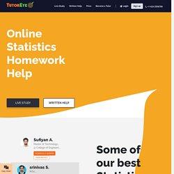 Find statistics help from expert online tutors