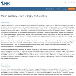 Mann-Whitney U Test in SPSS Statistics