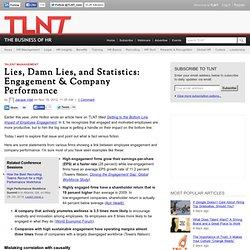 Lies, Damn Lies, and Statistics: Engagement & Company Performance