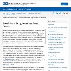Products - Vital Statistics Rapid Release - Provisional Drug Overdose Data