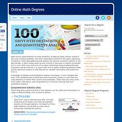 100 Savvy Sites on Statistics and Quantitative Analysis