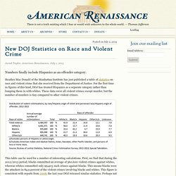 New DOJ Statistics on Race and Violent Crime