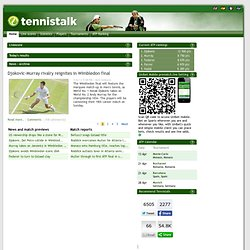 Tennis Statistics Match reports | Tennistalk