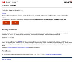 Statistics Canada: Canada's national statistical agency