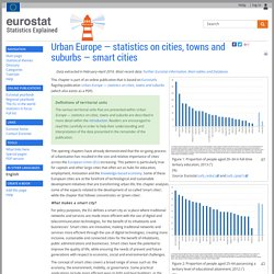 Urban Europe — statistics on cities, towns and suburbs — smart cities - Statistics Explained