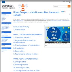 Urban Europe — statistics on cities, towns and suburbs - Statistics Explained