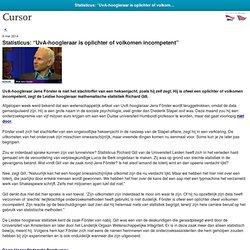 "Cursor TU/e: Statisticus: ""UvA-hoogleraar is oplichter of volkomen incompetent"""
