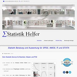 Statistik Helfer - Beratung für SPSS, R und STATA