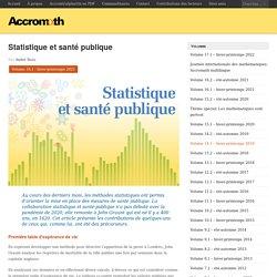 Statistique et santé publique
