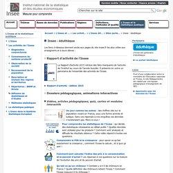 L'Insee et la statistique publique - Insee - éduthèque