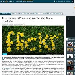 Flickr : le service Pro revient, avec des statistiques améliorées