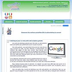 statistiques pour un site outils web analytics gratuits