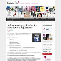 Animation de page Facebook et statistiques d'applications