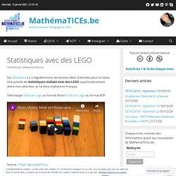 Statistiques avec des LEGO – MathémaTICEs.be