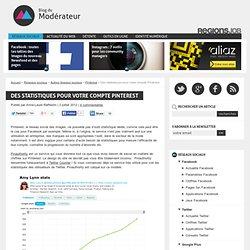 Des statistiques pour votre compte Pinterest