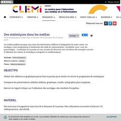 Des statistiques dans les médias- CLEMI