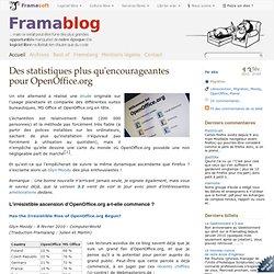 Des statistiques plus qu'encourageantes pour OpenOffice.org - Fr