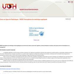 Cours en ligne de Statistiques - MOOC francophone de statistique appliquée