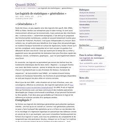 Les logiciels de statistiques « généralistes » - Quanti IHMC
