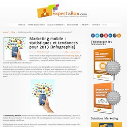 Marketing mobile : statistiques et tendances pour 2013 [Infographie]