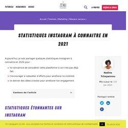 Statistiques Instagram à connaitre en 2021 - Zenu Académie