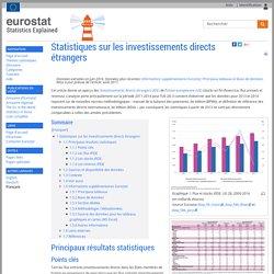 Statistiques sur les investissements directs étrangers - Statistics Explained