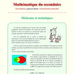 Médecine et statistiques - Statistique