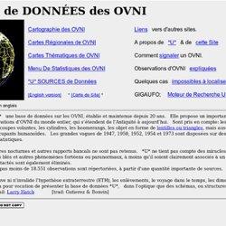 Base de données *U* : Cartes et statistiques des observation d'OVNI