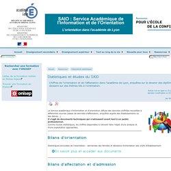 Statistiques et études du SAIO - [L'orientation dans l'académie de Lyon]